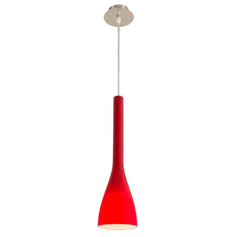 Red pendant light