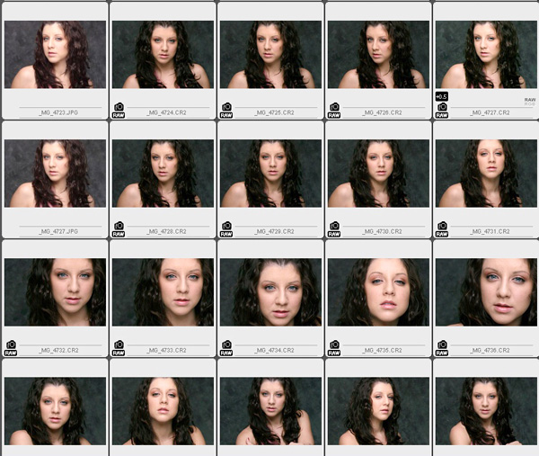 Letu0027s Do Some Lighting Today (from the Archives) u2013 ESSENTIALS - sample contact sheet