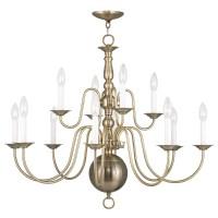 Livex Lighting 5014-01 Antique Brass Williamsburg 12 Light ...