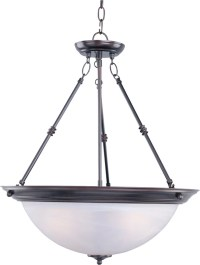 Maxim Oil Rubbed Bronze 3-Light Inverted Bowl Pendant ...