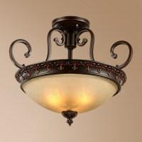Single Light Rustic/Lodge LED Integrated Living Room ...