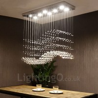Dimmable Modern LED Crystal Ceiling Pendant Light Indoor ...