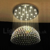 21 Lights Modern LED K9 Crystal Ceiling Pendant Light ...