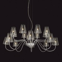 Chrome & Clear Glass Chandelier