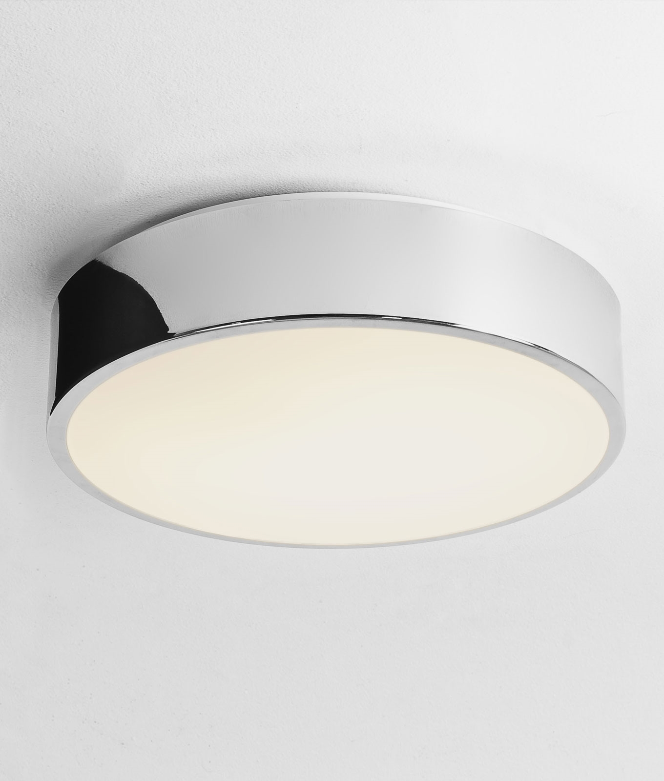 Nice and Bright Flat Drum Light Ideal For Bathrooms