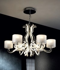 Ghost Design 6 Light Chandelier with Shades & LEDs
