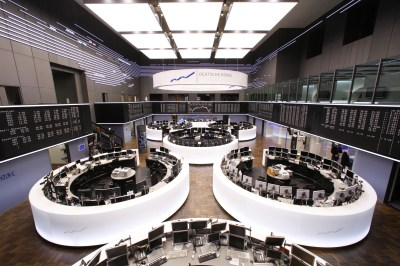The visitors' gallery (on the right) of the trading floor is open to the public after registration