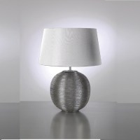 Elstead Lighting Caesar Silver Table Lamp - Elstead ...