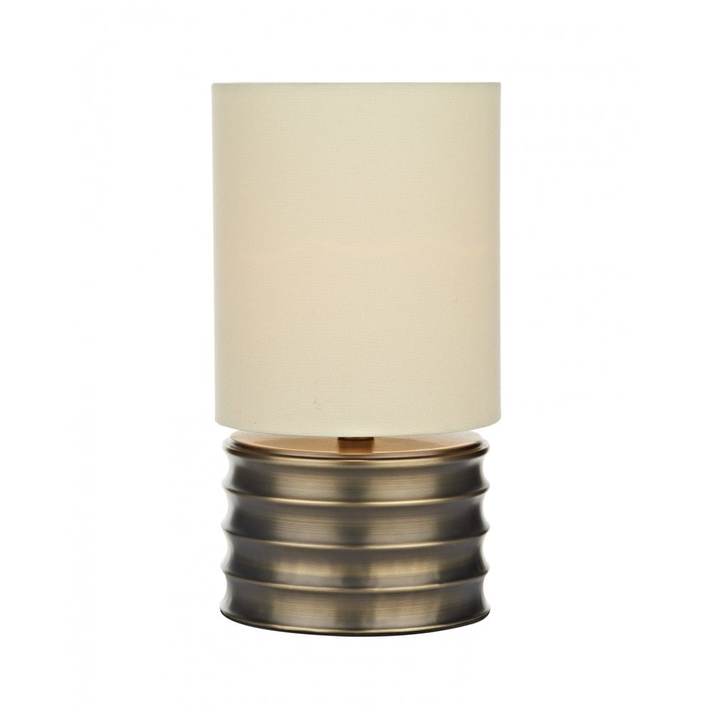 Dar Lighting Nutmeg NUT4129 Antique Gold Table Lamp
