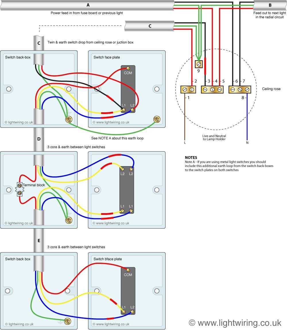 3 way light switch wiring diagram fig 2 three
