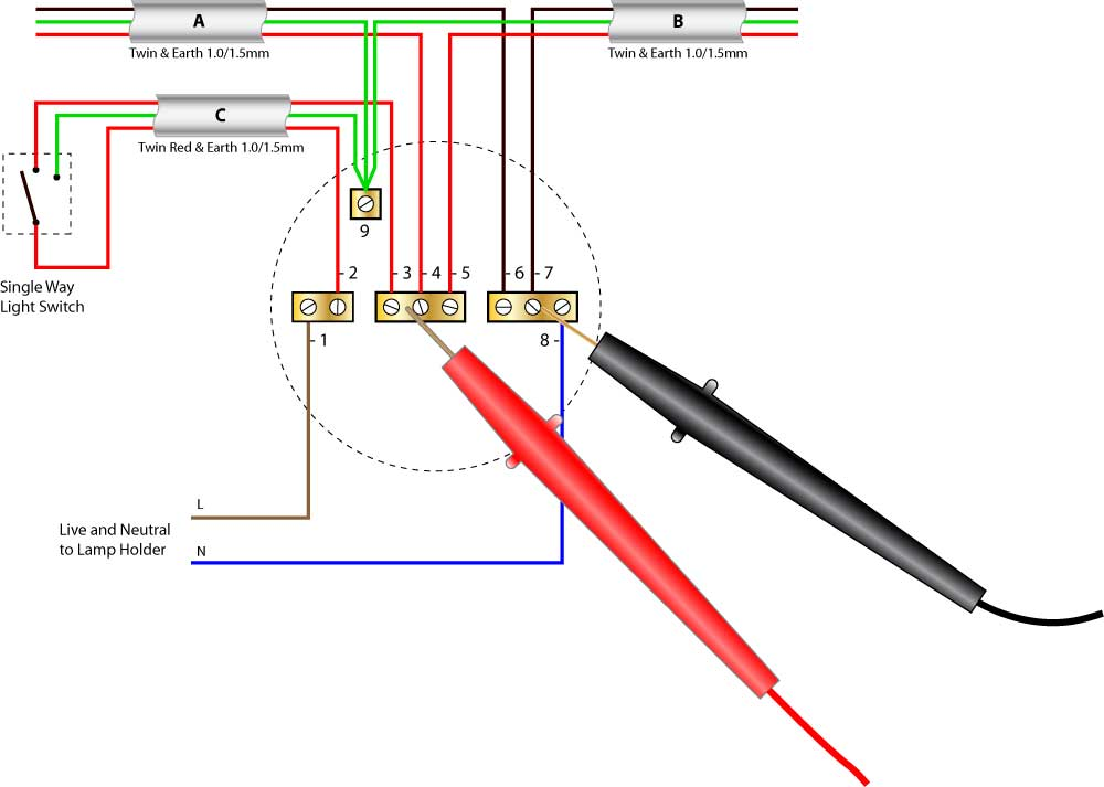 One Way Light Wiring Diagram Wiring Diagram