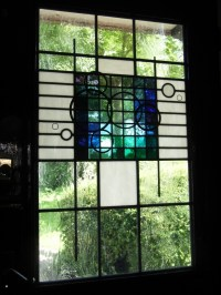 Contemporary Stained Glass Door Panel | Stained Glass ...