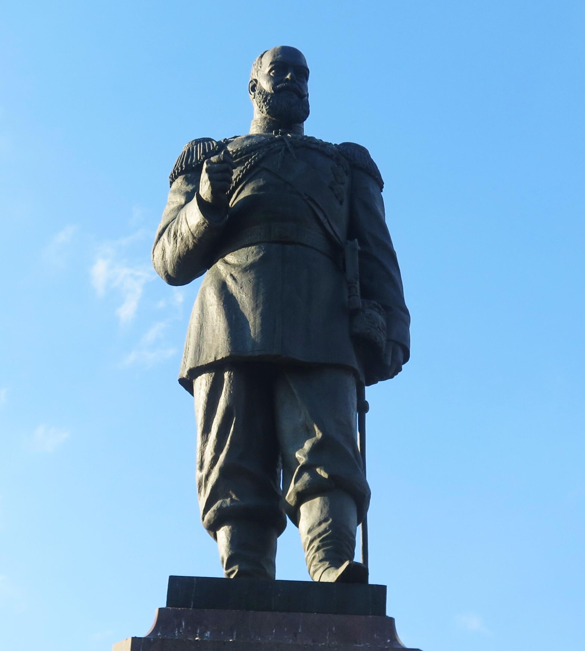 A close up of Tsar Alexander III.