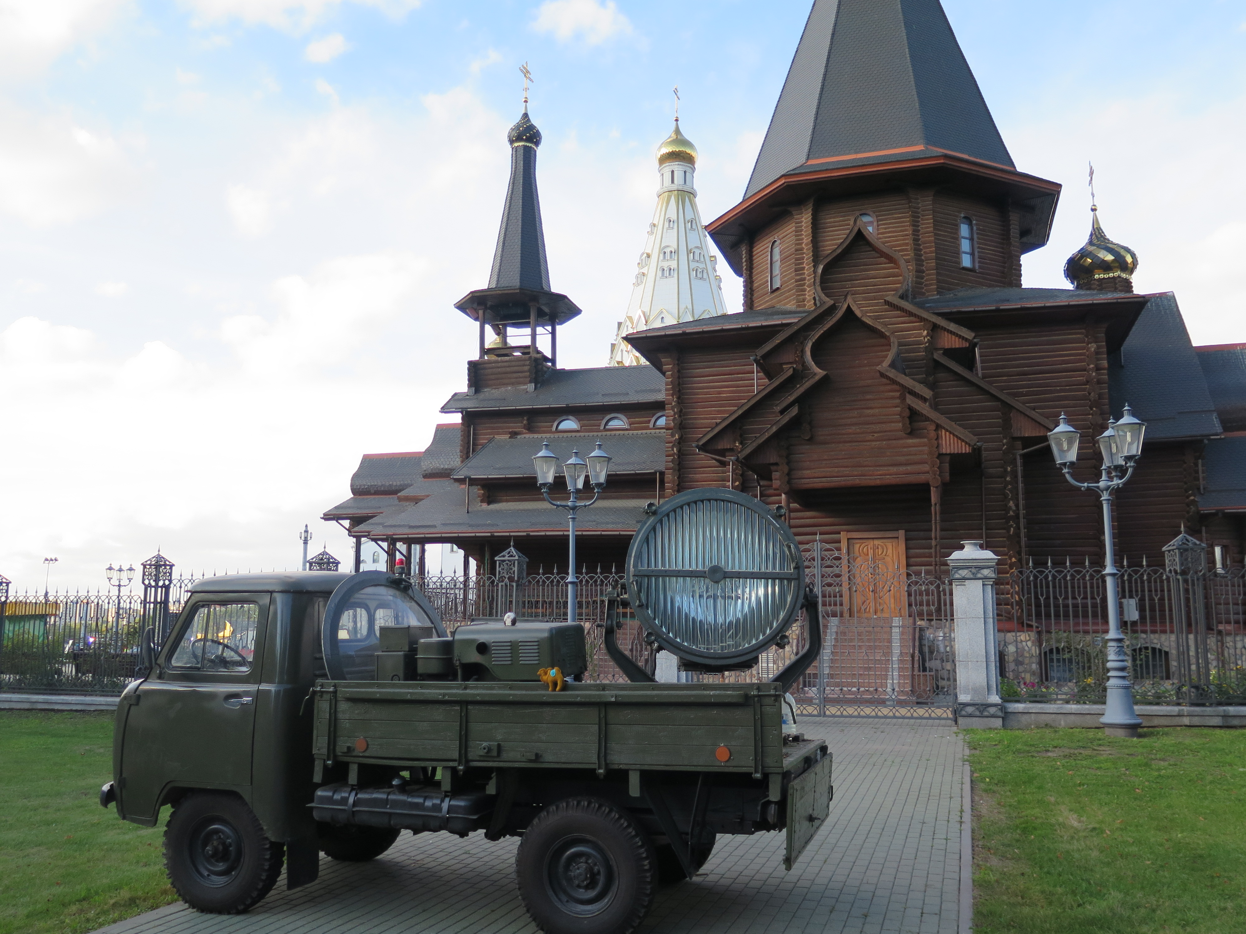 When we walked towards the churches we saw two trucks like this.