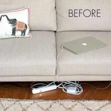 how to hide outlets and cords