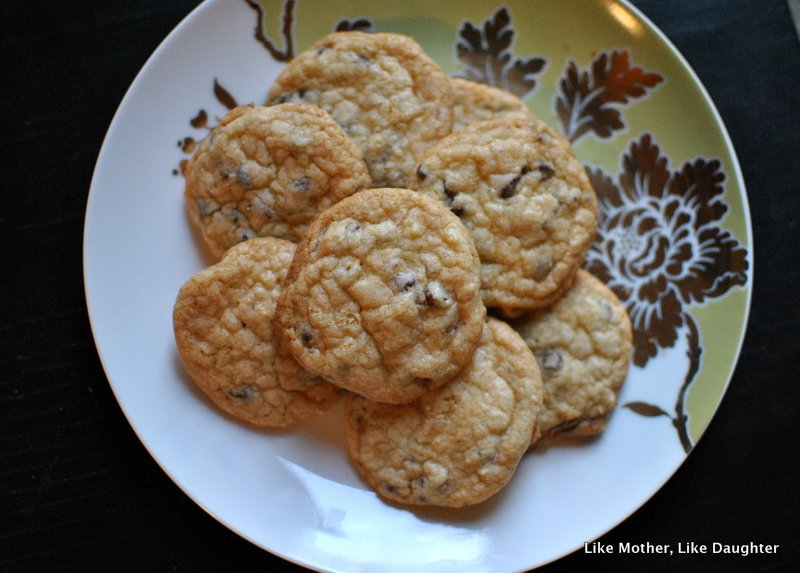 Crystallized ginger chocolate chip sugar cookies ~ Like Mother, Like Daughter 6