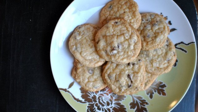 Crystallized ginger chocolate chip sugar cookies