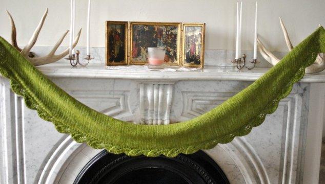 A green Saroyan shawl with your {b&p}