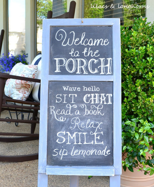 Front Porch Chalkboard Sign {Update}