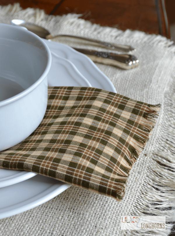 fall no sew napkin