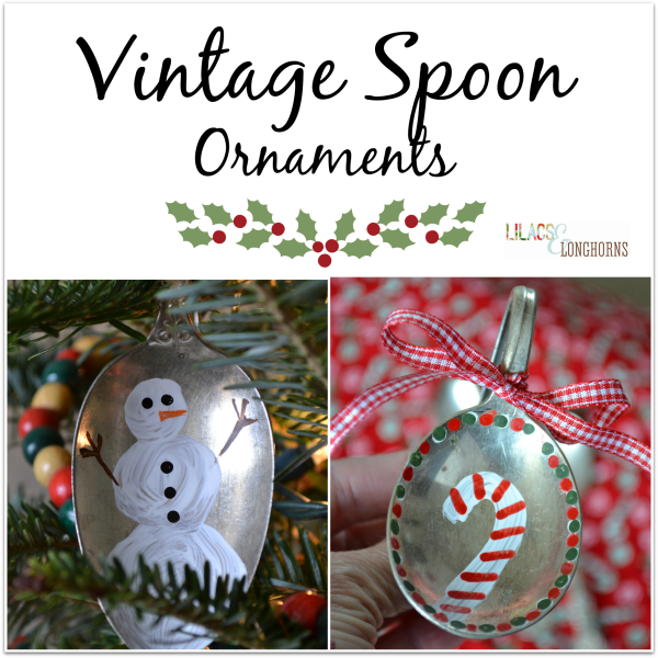 vintage spoon ornaments collage