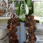 how to make a scented pine cone wreath