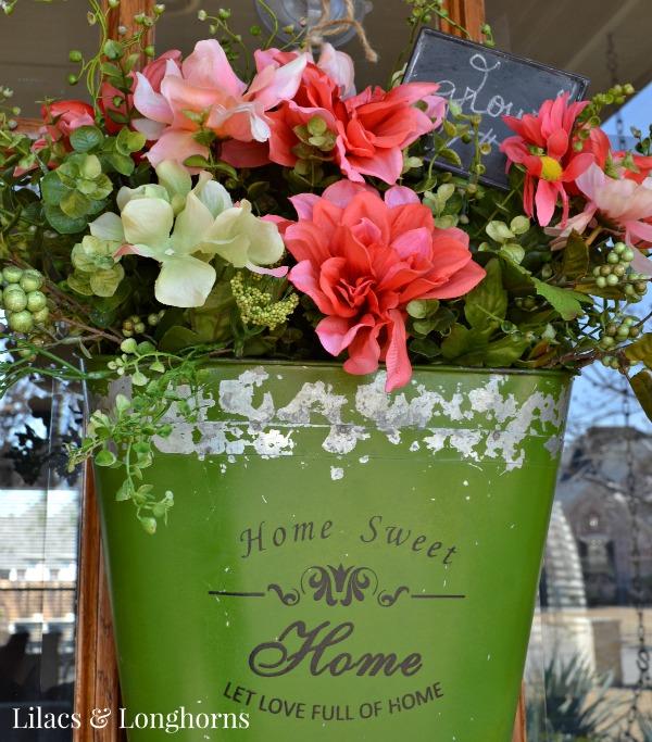 pretty spring floral arrangement