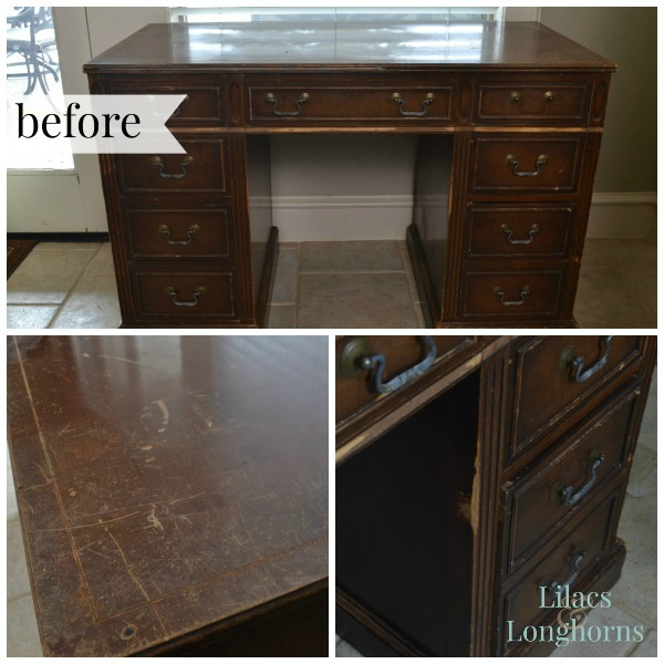 old beat up desk gets a makeover