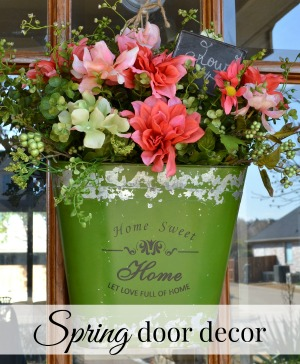 Easy Spring Door Decor
