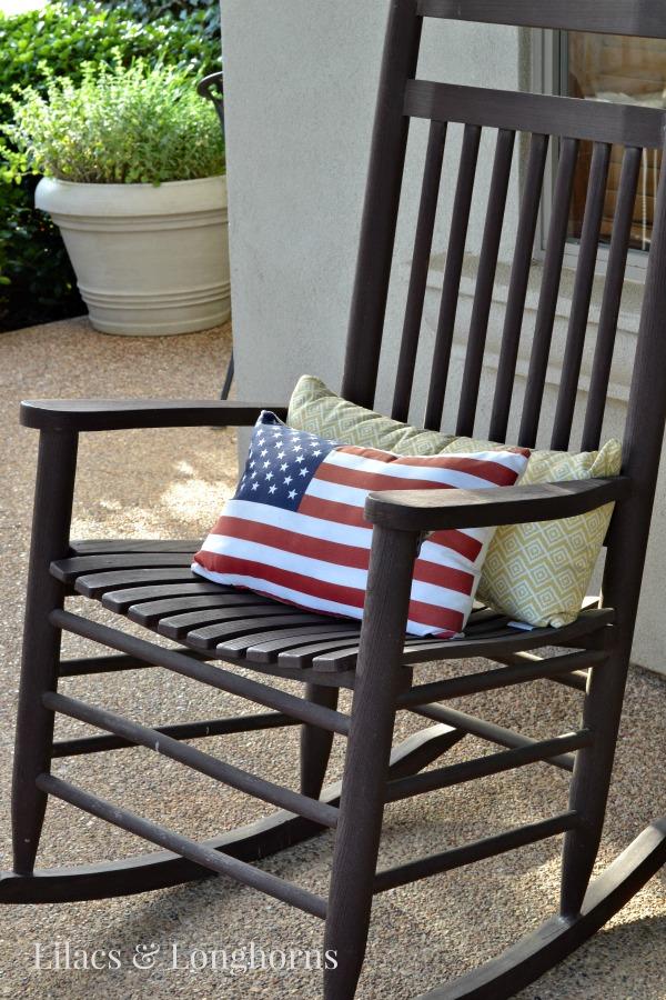 DIY American Flag Pillow