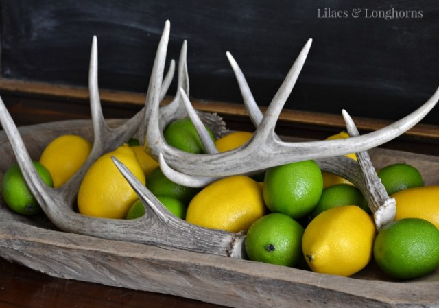 lemons and limes used in decor