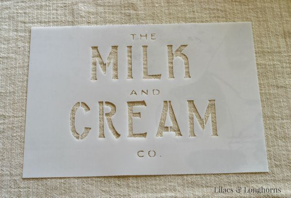 milk and cream co stencil
