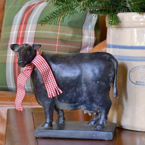 Christmas cow with scarf