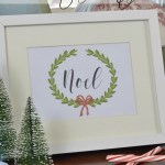 Free Christmas printables Noel and Peace on Earth