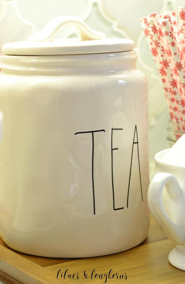 Rae Dunn tea cannister