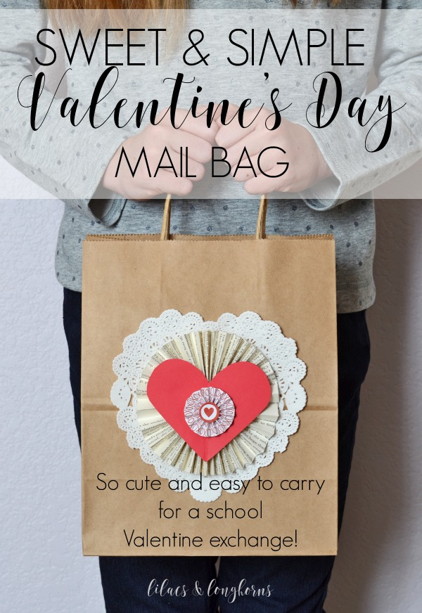 easy to carry valentines day mail bag craft