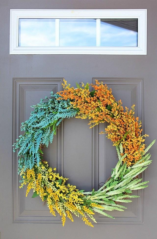 faux wildflower wreath