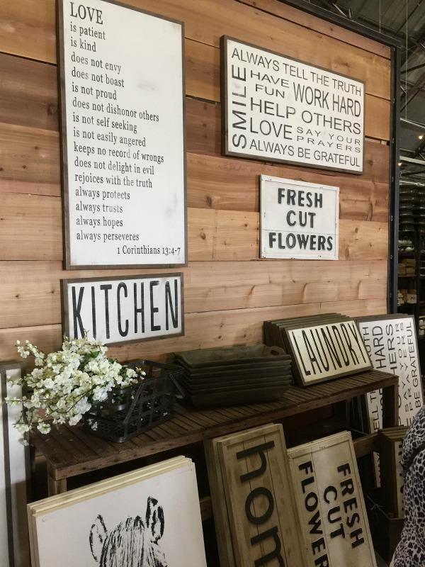 wooden signs Magnolia market Waco TX