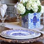 brown-and-blue-transferware-blue-and-white-table-setting