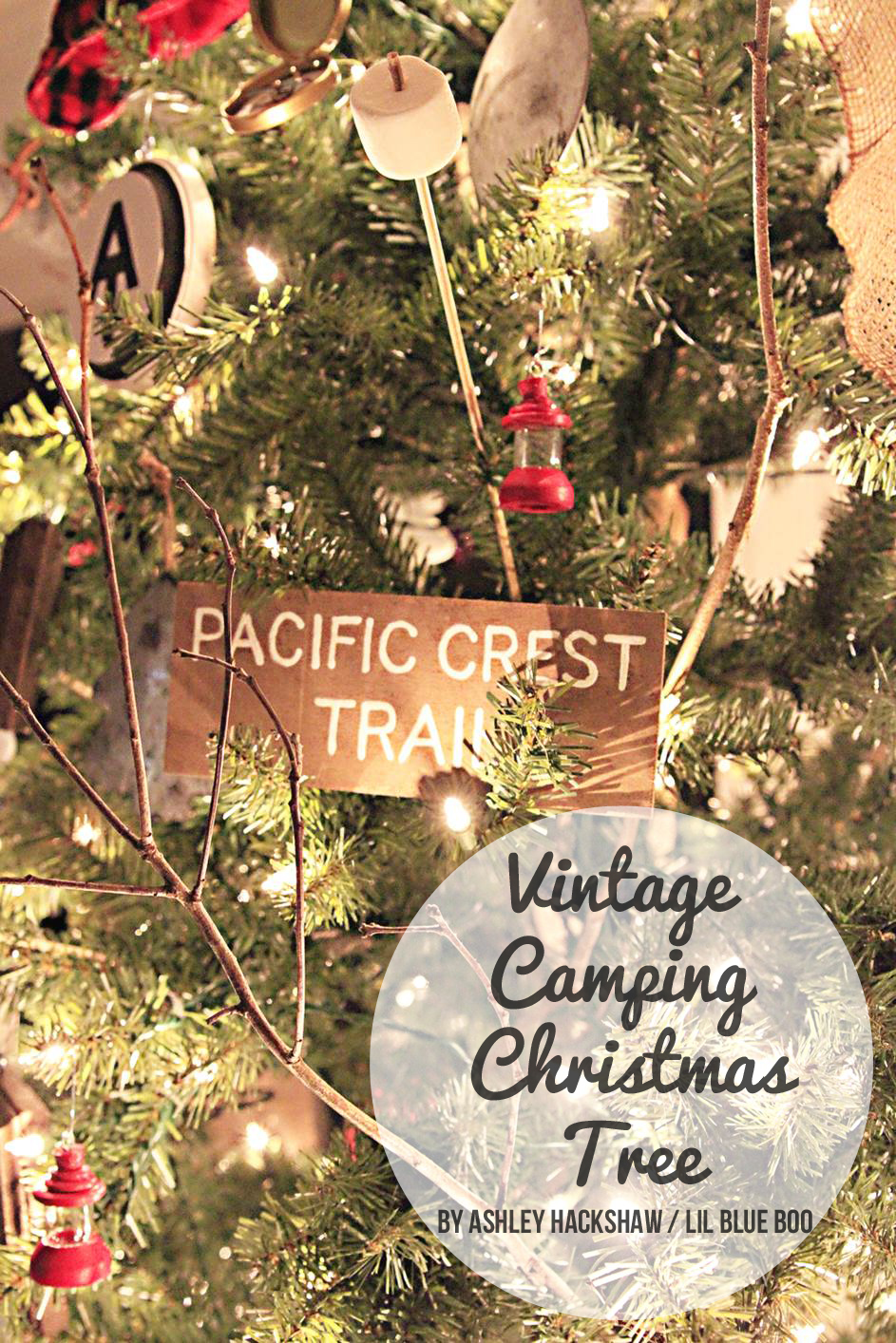 Vintage camping theme tree michaels makers dream tree challenge 2015