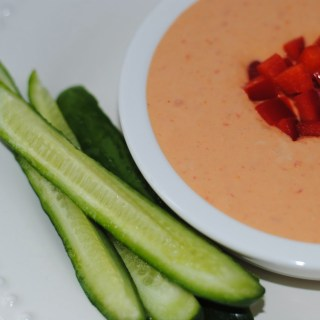 White Bean and Roasted Red Pepper Hummus