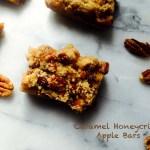 caramel honeycrisp apple bars