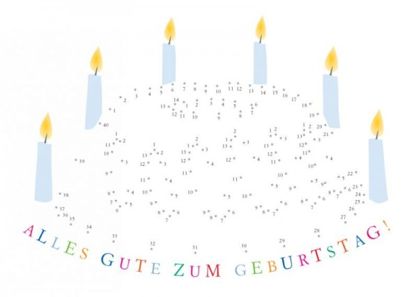 Geburtstagskarte Glückwunschkarte Postkarte Kuchen lille sted