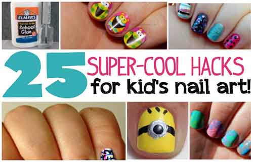 25 Super Cool Hacks For Kid39s Nail Art Lil Moo Creations