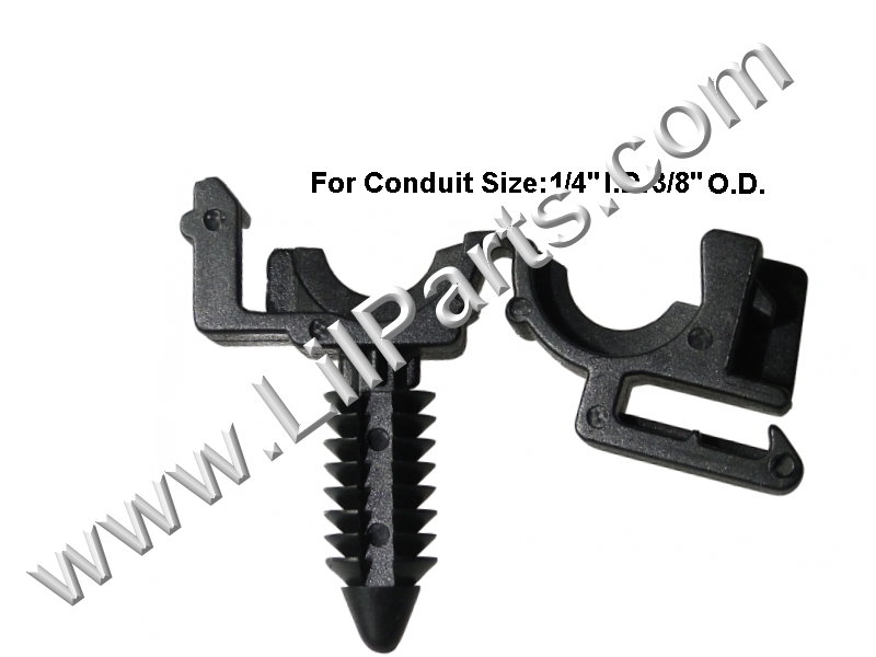 Compatible with GM 12040984 Black Nylon routing clips for wire loom