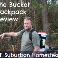 The Bucket Backpack - A Foraging, Gardening, Hunting, You Name It It Helps You Get The Job Done Tool