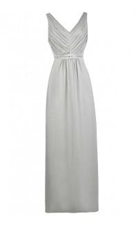Grey Maxi Bridesmaid Dress, Cute Grey Dress, Grey Prom