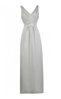 Grey Maxi Bridesmaid Dress, Cute Grey Dress, Grey Prom ...
