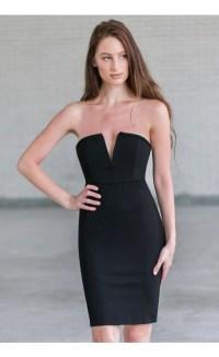Little black dress | Black strapless cocktail dress | Lily ...
