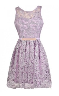Purple Lace Dress, Lavender Lace Dress, Lavender ...